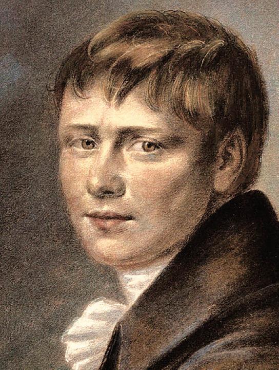 Heinrich von Kleist  in einer Kreidezeichnung von 1801      | Foto: Korbel/BZ