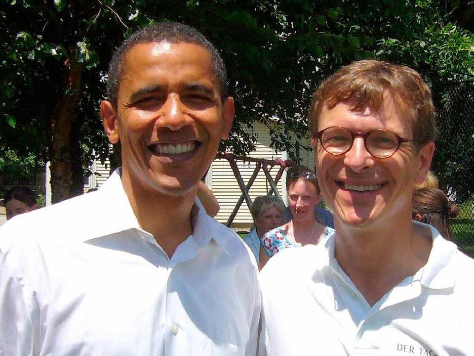 Christoph von Marschall mit Barack Obama  | Foto: privat