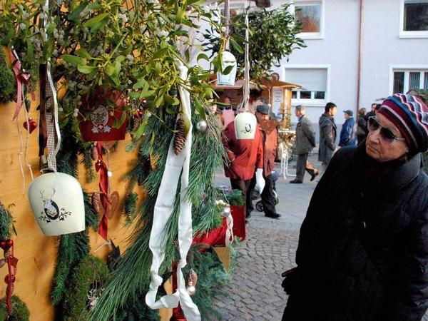 Gute Stimmung herrschte beim Weihnachtsmarkt in dr Innenstadt. Den Besuchern wurde f�r Augen, Ohren und Gaumen etwas geboten.