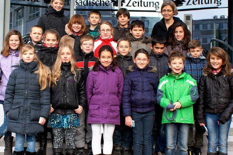 Die Klasse 4a der Schutterlindenbergschule aus Lahr mit ihrer Lehrerin Doris Duhatschek. (Foto: BZ)