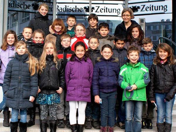 Die Klasse 4a der Schutterlindenbergschule aus Lahr mit ihrer Lehrerin Doris Duhatschek.