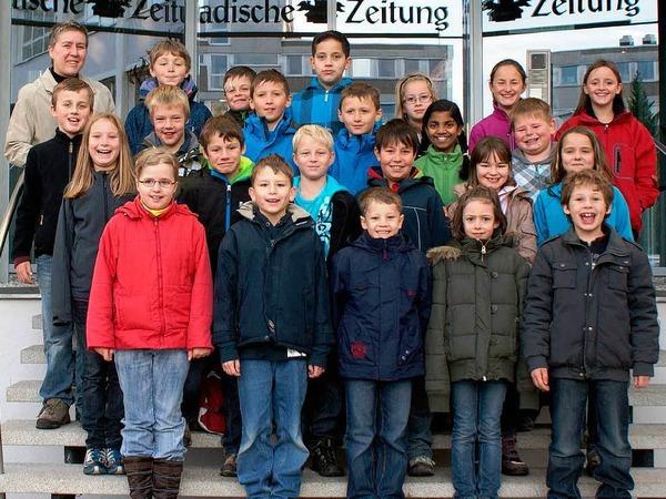 Die Klasse 4 der Grund- und Hauptschule St. Märgen.