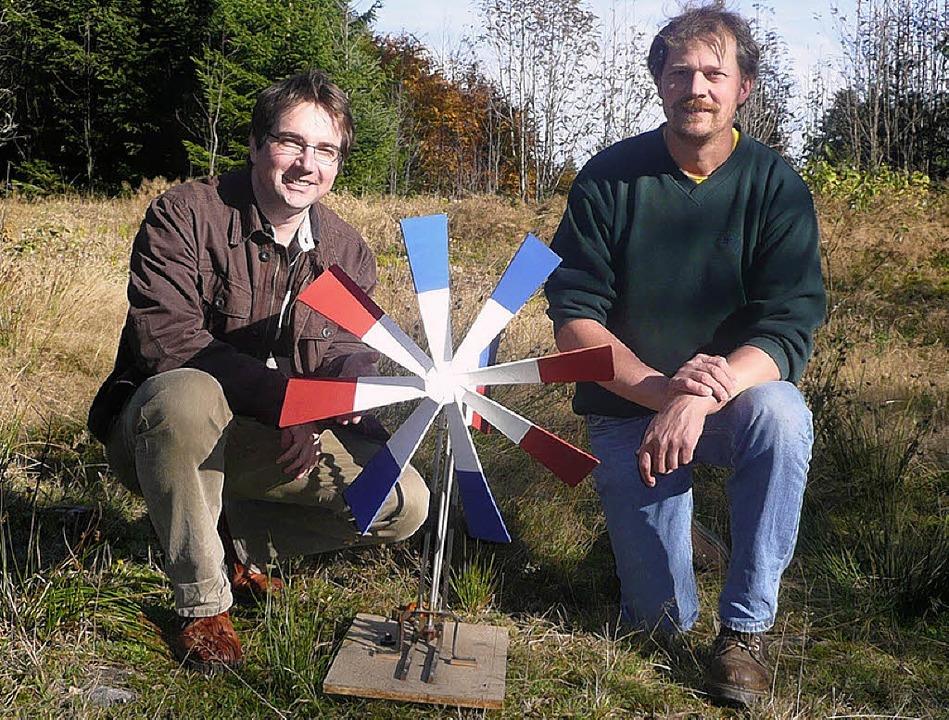 Hansjörg Straub (links) möchte auf der...arakter für sein heutiges Engagement.   | Foto: Peter Stellmach
