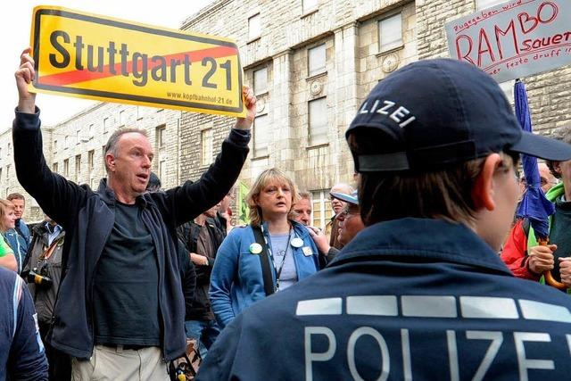 S21: Polizeieinsatz rund um den Bahnhof kostet über 25 Millionen Euro
