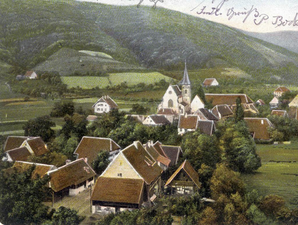 Das glottertal auf einer postkarte aus o gt christian ringwald foto