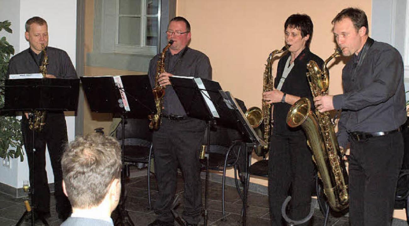 Einweihung: Quartett Sax-ämol des Riegeler Musikvereins sorgt für Klang  | Foto: Michael Haberer