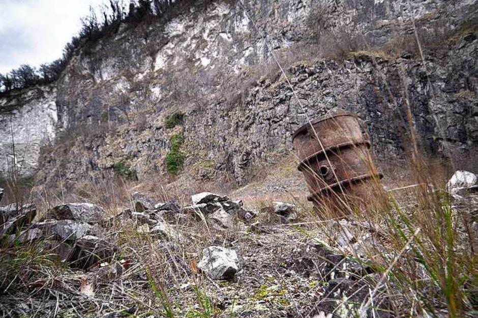 Der ehemalige Steinbruch von Niederrotweil (Foto: Janos Ruf)
