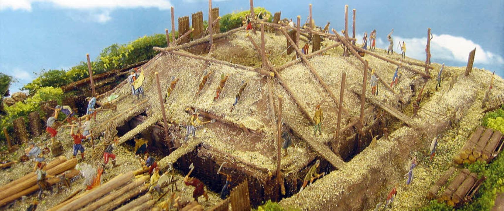Schanzbauern errichten eine Redoute: D...ms im Karlsruher Schloss ausgestellt.   | Foto: AG Minifossi