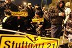 Fotos: Der Polizeieinsatz zur R�umung der Stuttgart 21-Baustelle