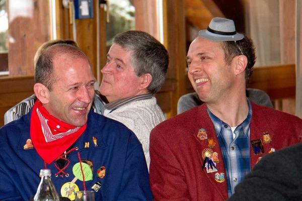 Bürgermeister Christian Behringer, Jo Chevallier aus Combrit und Landrat Tilman Bollacher