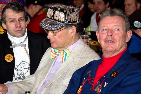 Rektor Henning Zillessen, Pfarrer Josef Haag und Ehrenb�rger Erich Kiefer (von linkls)