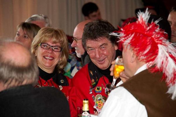 Auch Doris und Thomas Fechtig haben beim Zunftmeisterempfang Grund zur Freude