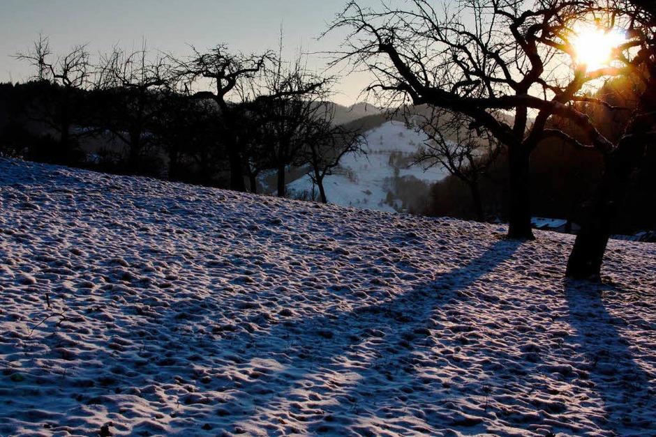 Winterabend im Münstertal (Foto: Alexander Huber)
