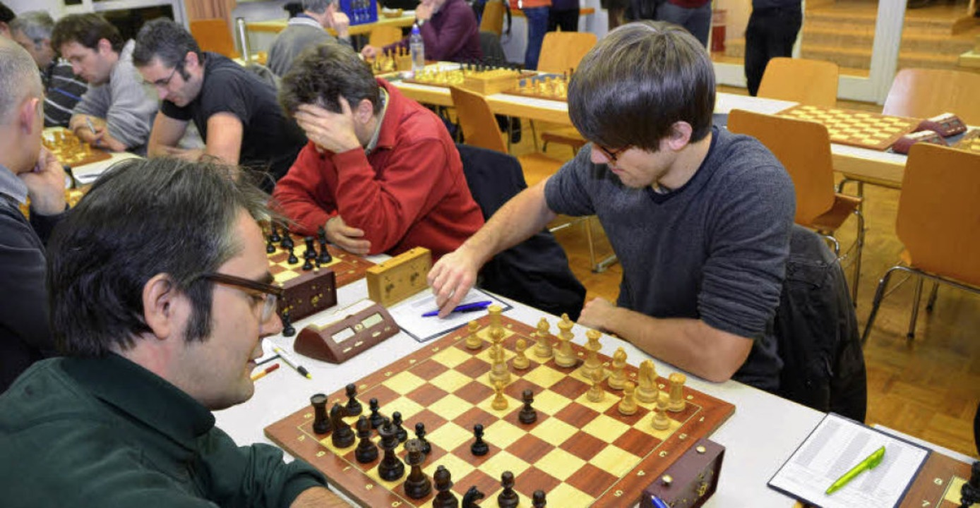Winterturnier beim Schachclub Freiburg...n Gegner Lucas Niewerth als Mitglied.   | Foto: bochtler