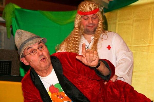 Ein witziges Unterhaltungsprogramm und gute Unterhaltung boten die R��wihler Narrenr�te.