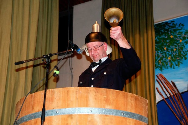 Pfl�mesitzung in Wagenstadt: Kultfigur D'Bott alias Dieter Brand berichtete �ber Missgeschicke Wagenstadter B�rger