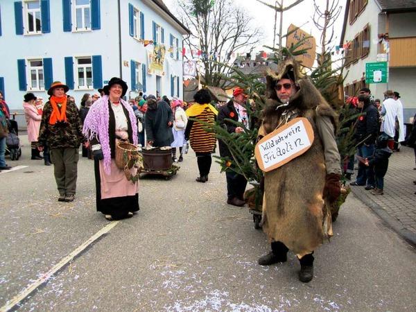 Umzug in Nordweil: Nordweils Wlidschwein Fridolin