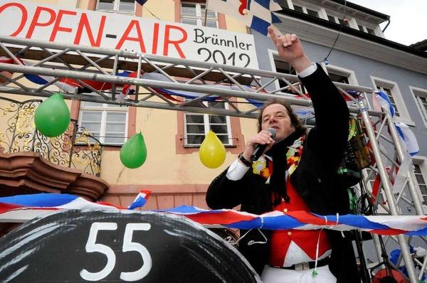 Vorgeschmack auf das Open Air machen die Jokilibrünnler mit Frontmann Klaus Burger