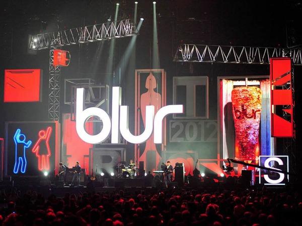 Umjubelt: Blur in der Originalbesetzung Damon Albarn, Graham Coxon, Dave Rowntree und Alex James