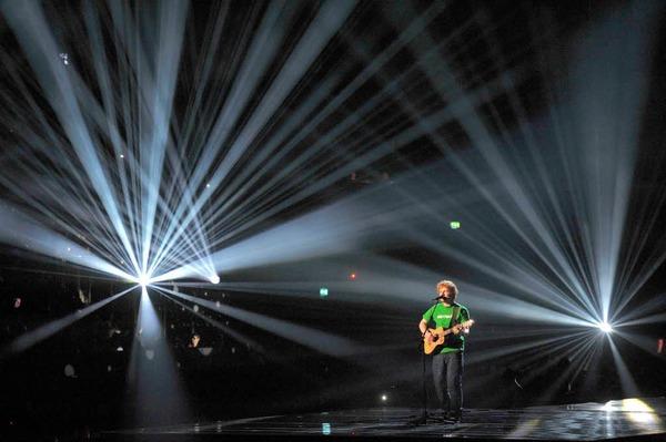 Singer-Songwriter Ed Sheeran wurde als bester nationaler Solok�nstler ausgezeichnet