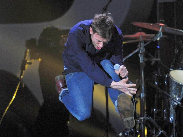 Damon Albarn von Blur auf der Bhne.