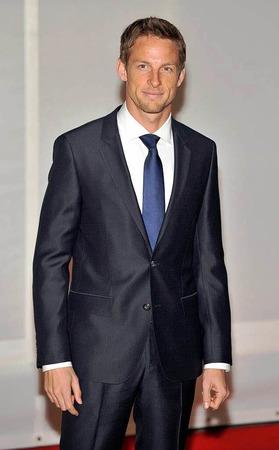 Auf dem roten Teppich: Formel-1-Fahrer Jenson Button