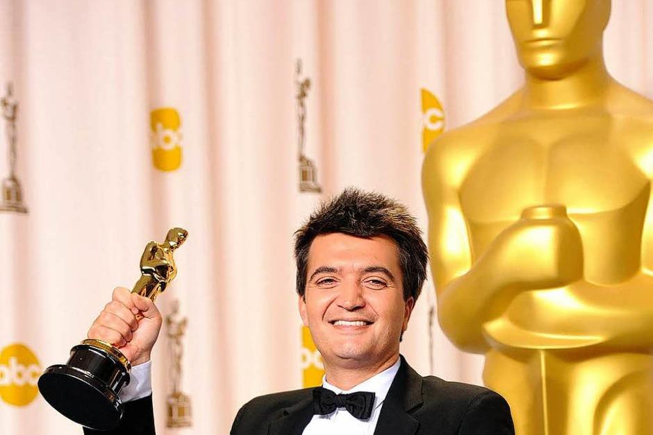 """Thomas Langmann, ausgezeichnet als Producer für """"The Artist"""". (Foto: AFP)"""