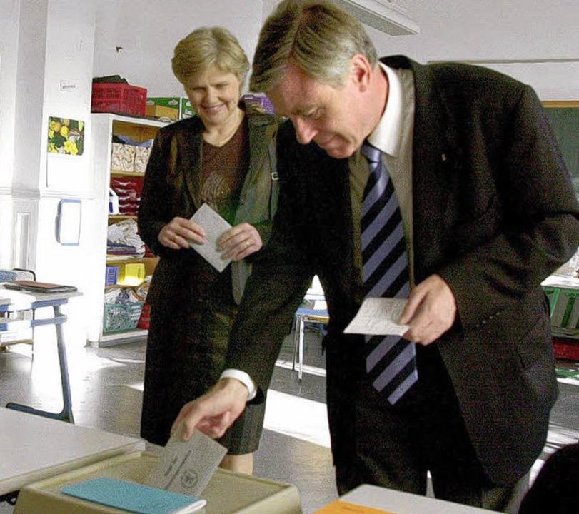 OB Eberhard Niethammer bei seiner Wahl 2004    Foto: Archiv