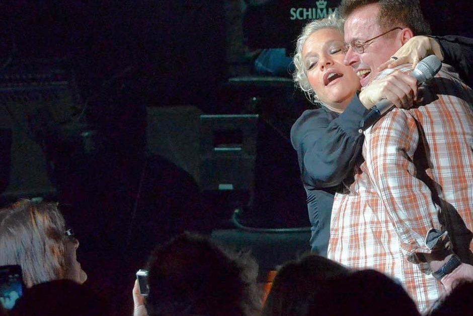 Aber wenigstens ist die Situation für Nahaufnahmen fürs Familienalbum und viele Lacher im Konzerthaus gut. (Foto: Hans-Peter Müller)