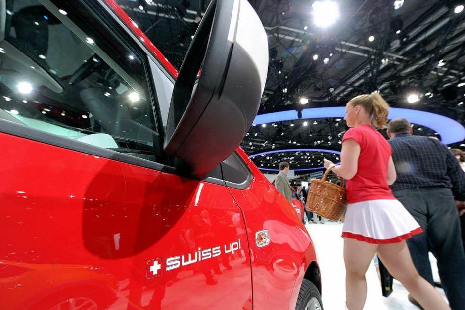 Der VW Swiss up auf dem Genfer Autosalon. (Foto: dpa)