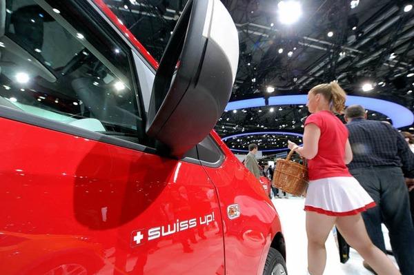 Der VW Swiss up auf dem Genfer Autosalon.