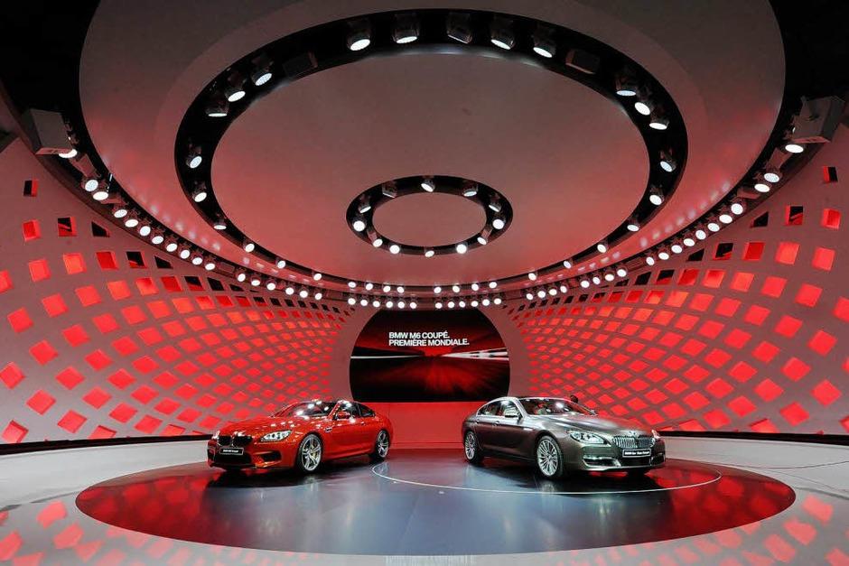 Der BMW 6er Grand Coupé (r) und das BMW M6 Coupé. (Foto: dpa)