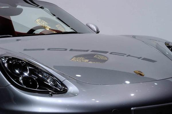 Porsche Boxter auf dem Genfer Autosalon.