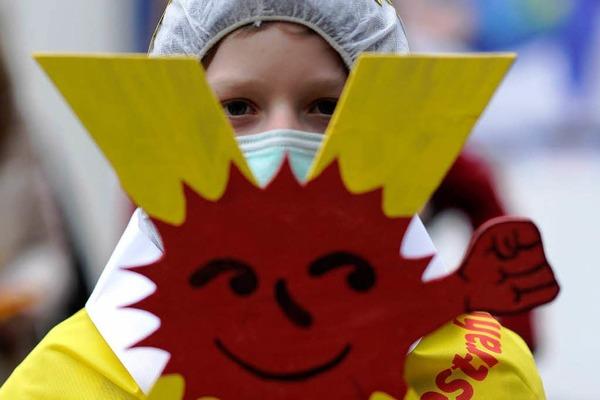 Atomkraftgegner demonstrieren  in Hannover f�r die sofortige Abschaltung aller Atomkraftwerke in Deutschland.