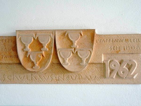 Erinnerungsstein an die Einweihung 1962