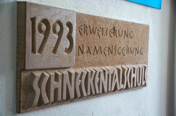 Erinnerungsstein an die Erweiterung 1993