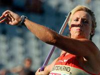 Speerwerferin Christina Obergf�ll arbeitet mit Mentaltrainer