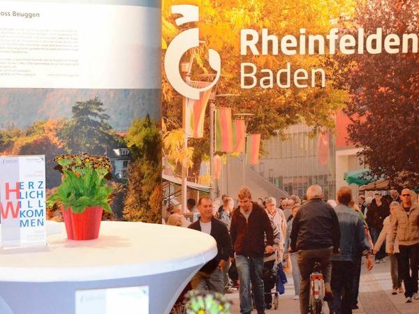 Allerhand gibt es am Stand von Rheinfelden und Grenzach-Wyhlen. Stadt und Gemeinde zeigen Profil. <?ZL?>