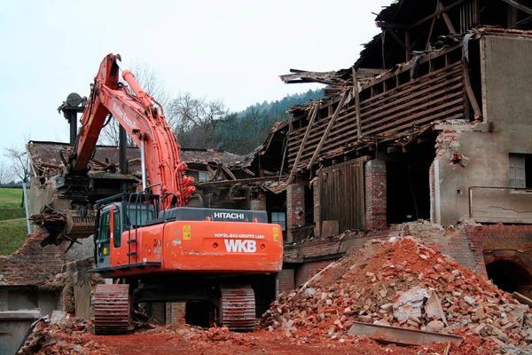 26. Januar 2012: Die Abbrucharbeiten kommen voran