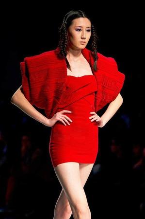 Bestrickend: Knitwear aus China, gezeigt bei der Modewoche in Peking.