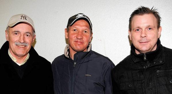 Drei Legenden des Freiburger Eishockeys: Thomas Dolak, Ravil Khaidarov und Petr Mares (v.l.n.r.).