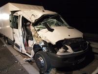 Zwei Menschen bei Unfall auf A5 lebensgefährlich verletzt