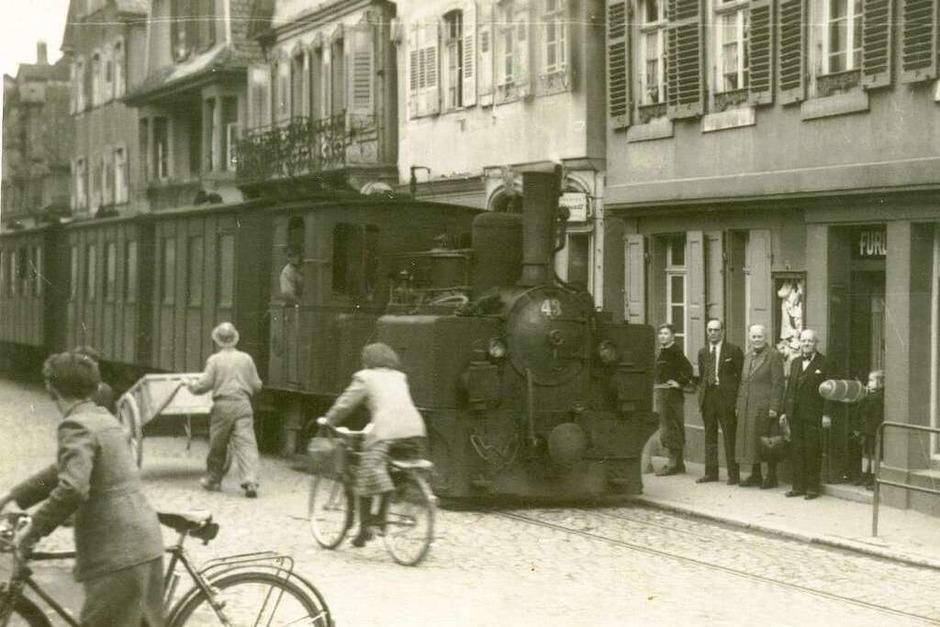 Historische Aufnahmen des Lahrer Bähnli. (Foto: privat)