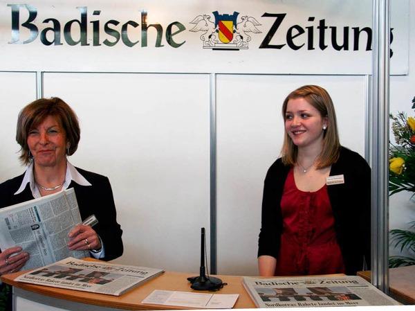 Der Stand der Badischen Zeitung.