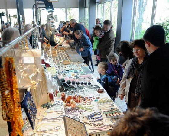 Die Mineralienbörse in der Sulzberghalle in Lahr