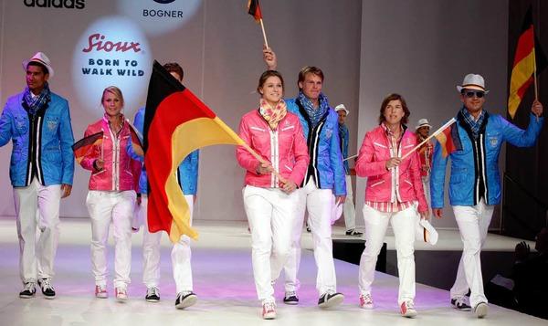 Rot, Wei�, Blau, Pink und Orange sind die Trendfarben in diesem Jahr – auch bei der deutschen Olympiaauswahl.