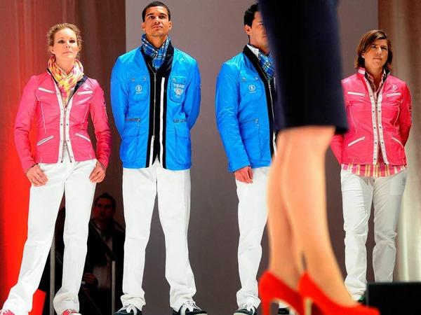 Rot, Weiß, Blau, Pink und Orange sind die Trendfarben in diesem Jahr - auch bei der deutschen Olympiaauswahl.