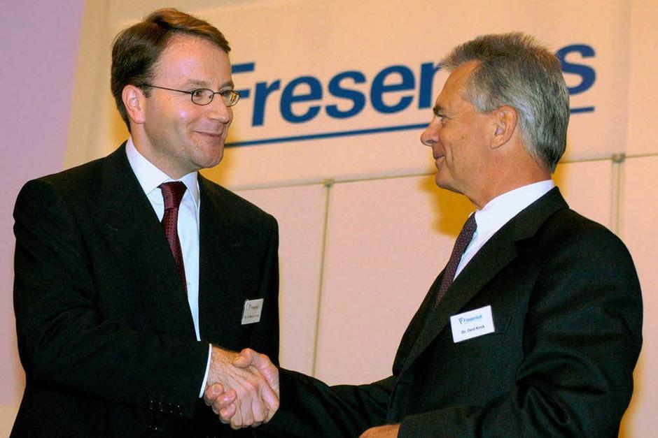 12.  Gerd Krick (rechts), Fresenius, 29.000 , außerdem Fresenius Medical Care, 231.000 Euro, Platz 18 (Foto: usage Germany only, Verwendung nur in Deutschland)