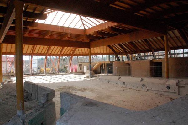 Bauarbeiten am Laguna-Bad.