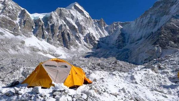 Im Basislager  am Mount Everest: Das Zelt von Richard Stihler